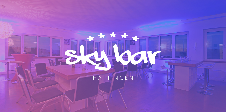 Die Skybar - mit Panoramablick über die Dächer von Hattingen