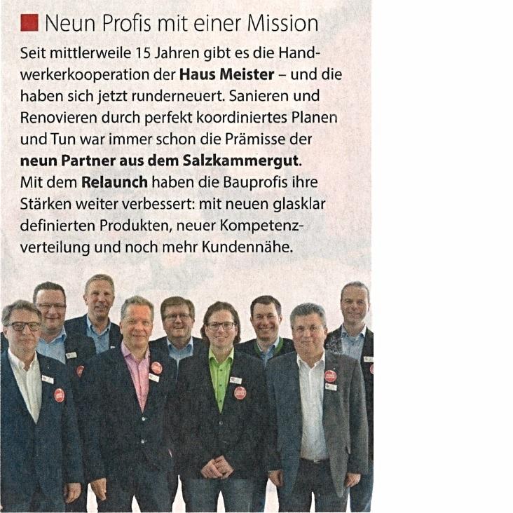 Blickpunkt V´bruck & Gmunden | Neun Profis mit einer Mission