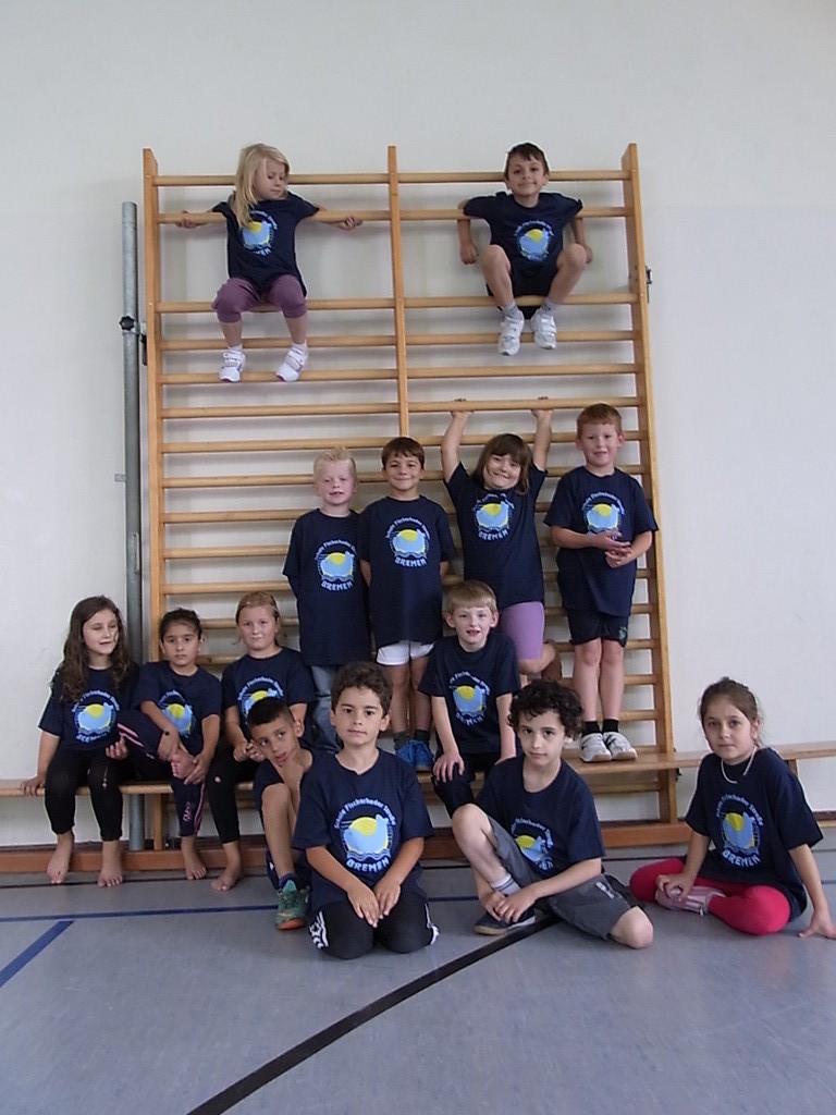 Schülerinnen und Schüler der Werder-Sport-AG