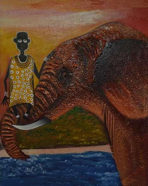 Gemalt von Dorothea Adroph aus Dar es Salaam in Tanzania ( Ölfarbe auf Leinwand)
