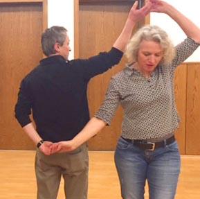 """Die """"Waldach-Rolle"""" im Tanzkurs mit Hardy Hermann, Freudenstadt."""