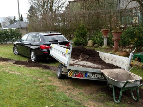 Kipperanhänger für Sand und Mutterboden Transport