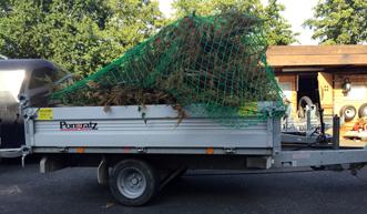 Anhänger - Kipper zum Transport von Gartenabfällen, Rollrasen, Pflastersteinen etc