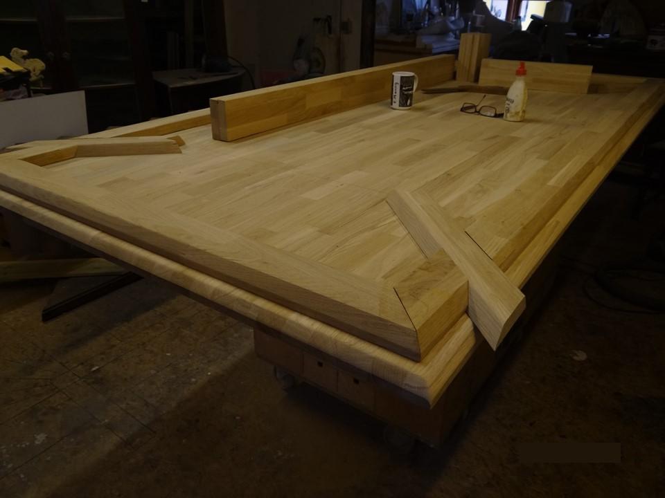 Tischplatte in der Werkstatt