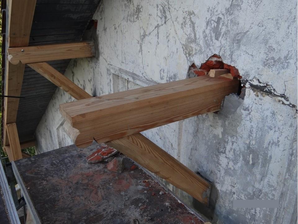 Schäden im Mauerwerk
