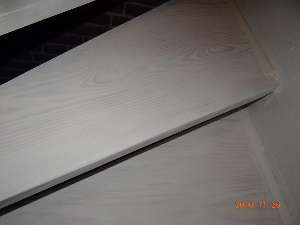 Deutliche Holzstruktur