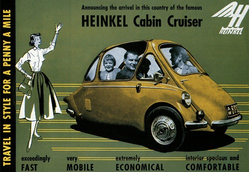 Een Engelse advertentie voor Heinkel.
