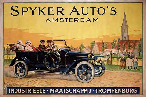 Reclame voor Spyker uit 1915.