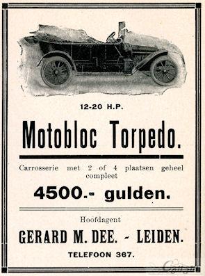 Nederlandse advertentie voor Motobloc uit 1913.