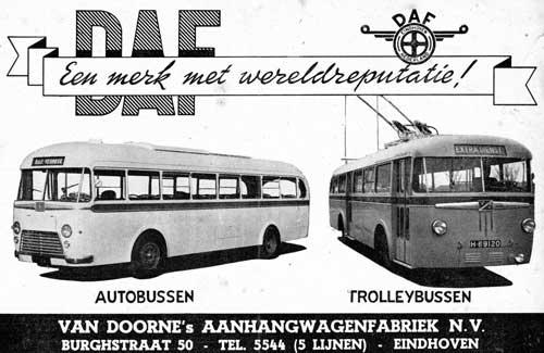 Advertentie van DAF uit 1950.