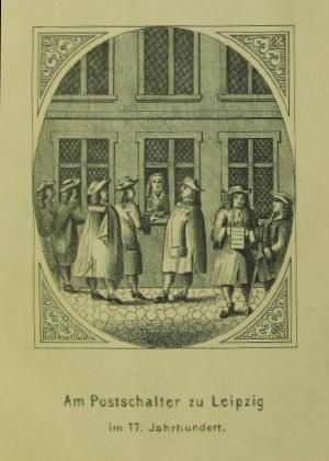 Abbildung 1: Leipziger Postschalter (SLUB Dresden)