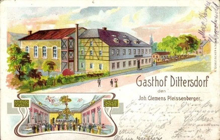Gasthof Dittersdorf um 1905