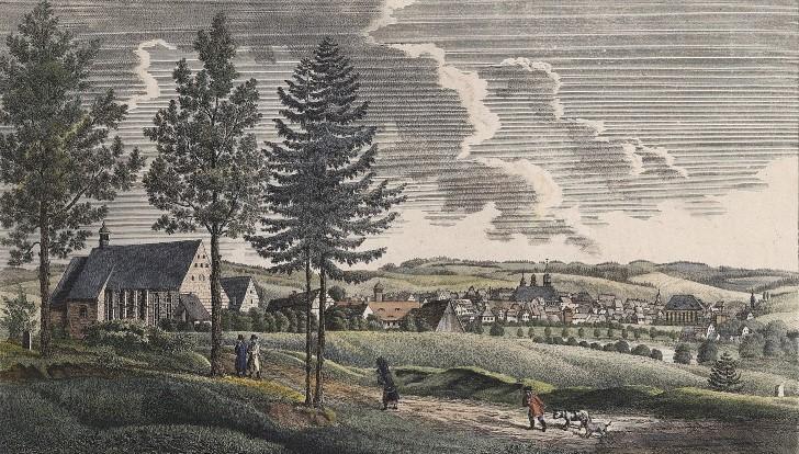 Ansicht von Chemnitz gegen Mitternacht 1850