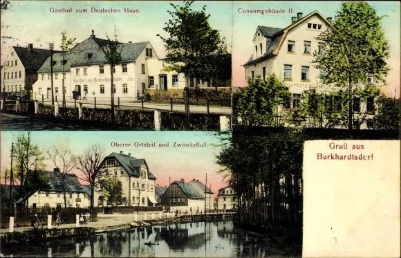 Auf einer Ansichtskarte von 1917