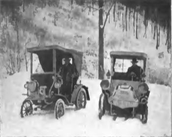 Dr. Karl Dieterich und sein Bruder Hans in zwei Benz  Quelle (3)