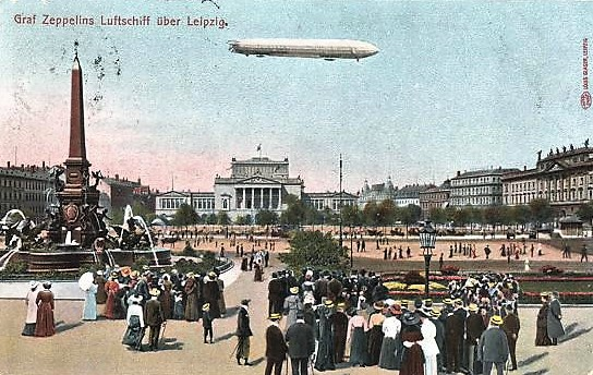 Zeppelin über Leipzig