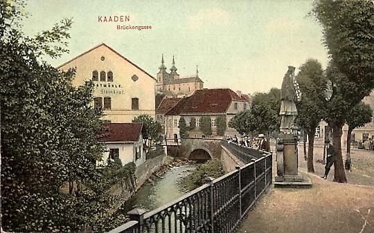 Die Brückengasse mit Kunstmühle Steinkopf