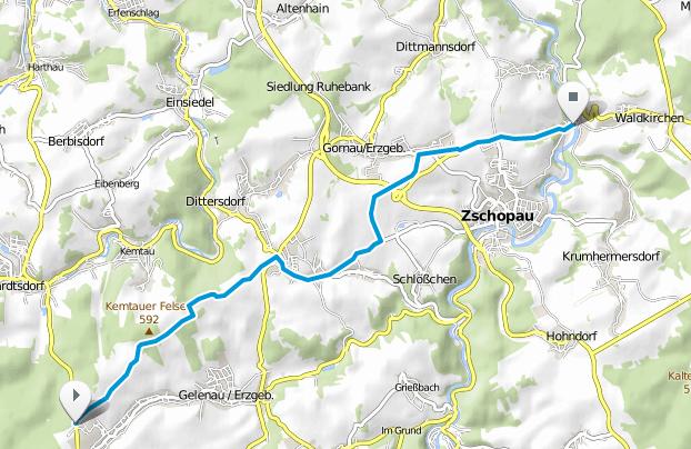 Die Eisenstraßevon Gelenau nach Waldkirchen