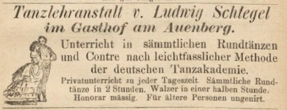 Announce der Tanzschule Schlegel