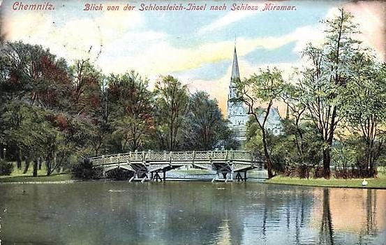 Brücke über den Schlossteich 1936