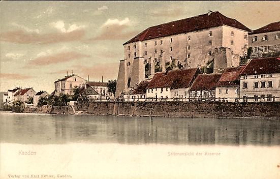Die Kaserne in der Burg Kaaden
