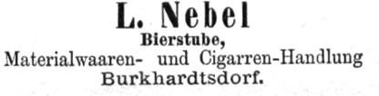 Inserat von 1893 - Lina Nebel war Hauseigentümerin