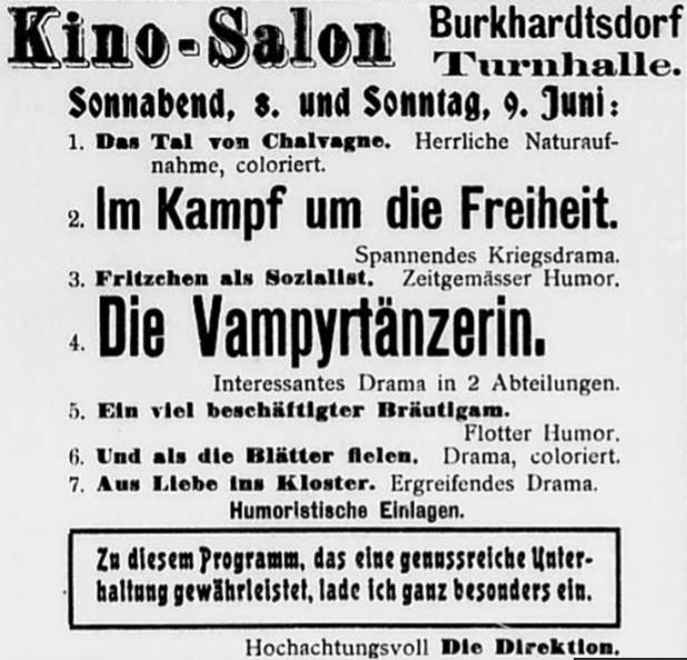 Aus Burkhardtsdorfer Zeitung 1912