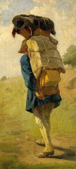 Wandersmann mit Gepäck