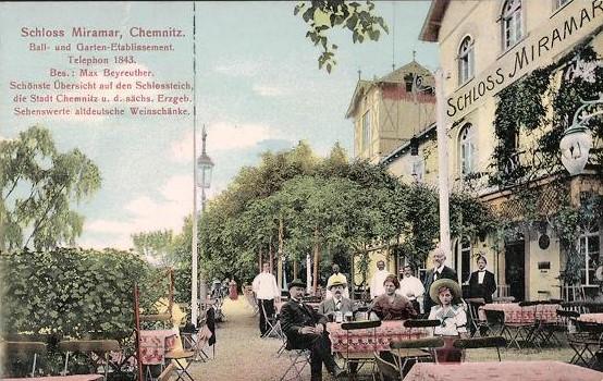 Terrasse vom Miramar 1910