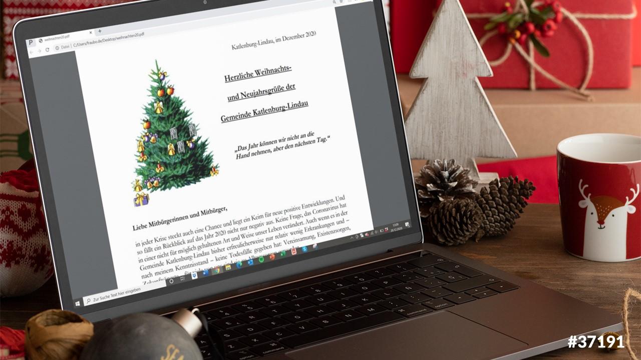 Weihnachts- und Neujahrsgrüße der Gemeinde Katlenburg-Lindau