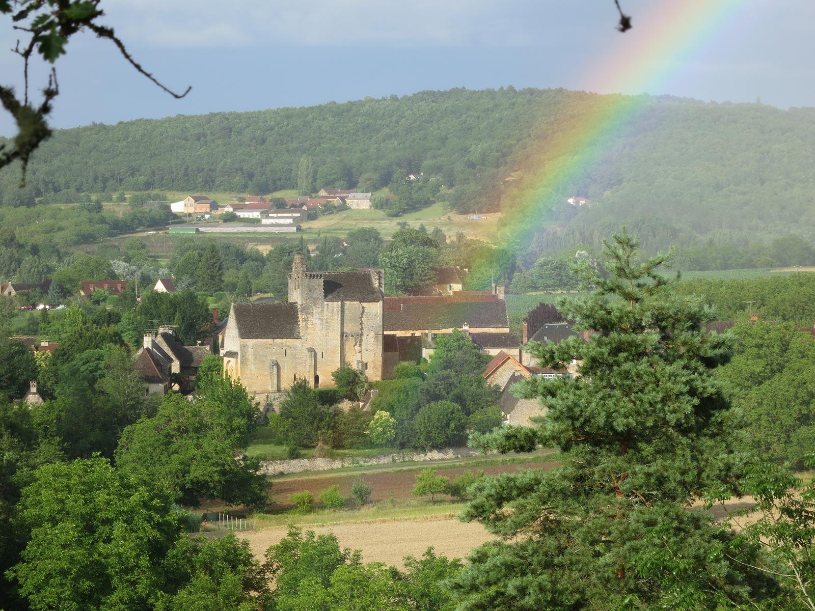 village de Sergeac au cœur du triangle d'or
