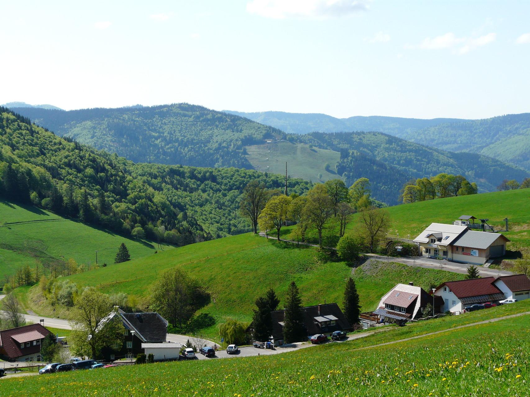 Blick von unserem Haus zum Hasenhorn