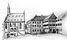 Spital, vor dem Brand 1874