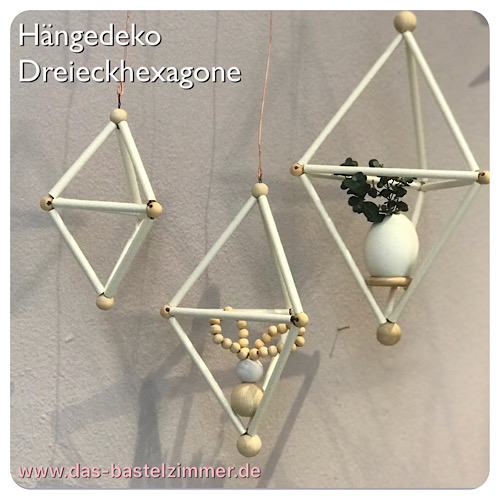 DIY-Set Dreieckhexagone 3Stk. Preis: 16,-