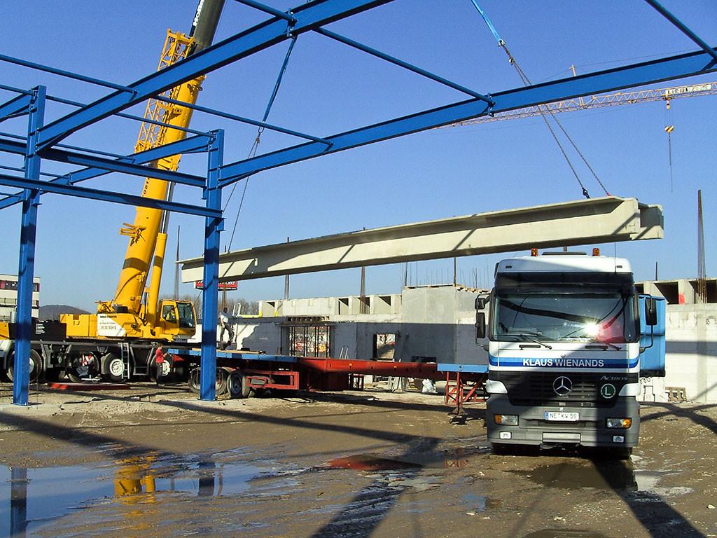 23m Deckenplatte für Logistikhalle in Mannheim