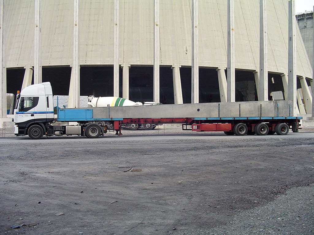 23m Betonstütze für Kühlturm Datteln