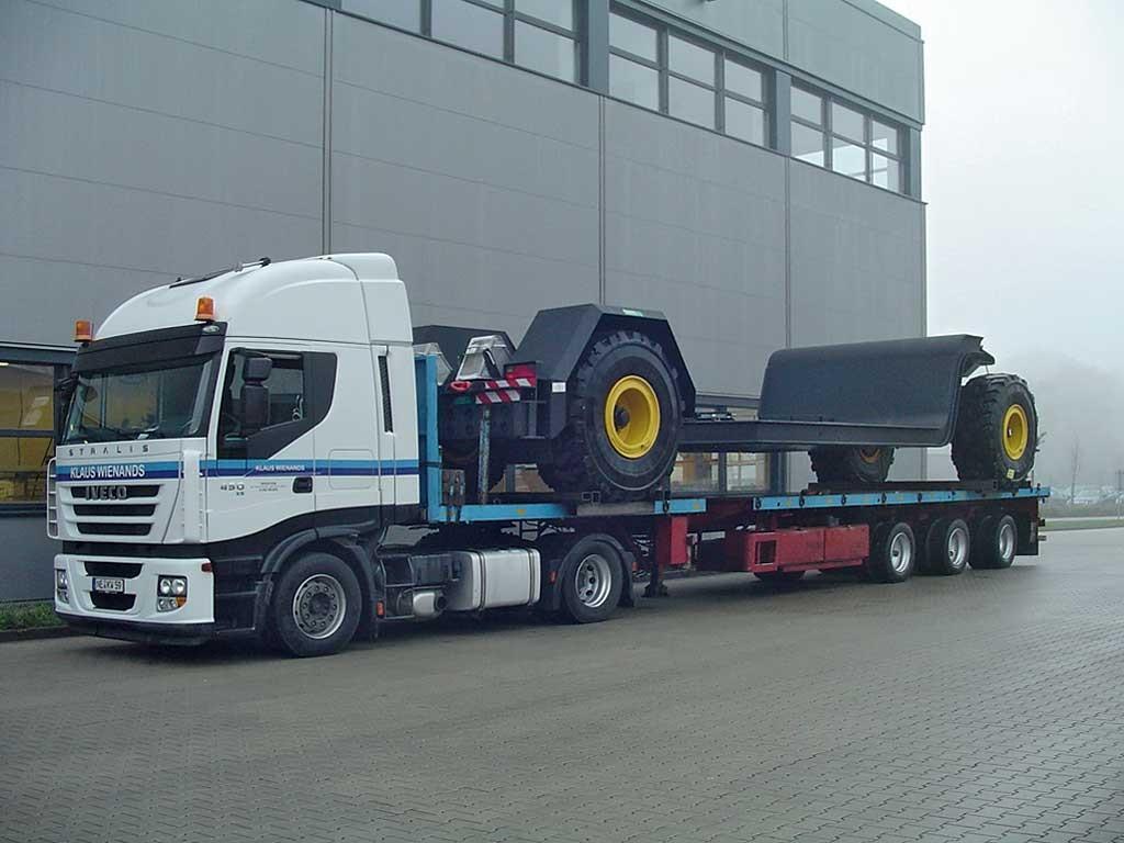 Kabelabrollwagen für die Torfindustrie
