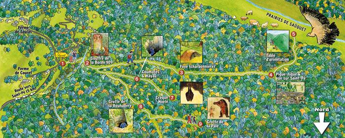 Plan du sentier karstique de Saint-Pé-de-Bigorre
