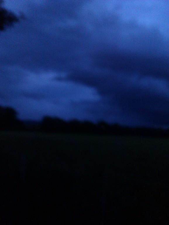 ..und dann brach der Sturm los..