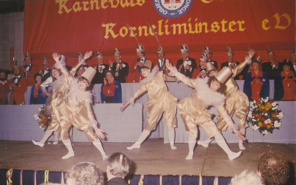 """Unsere zweite """"Große Sitzung"""" 1985 Showtanz """"Harlekin"""""""