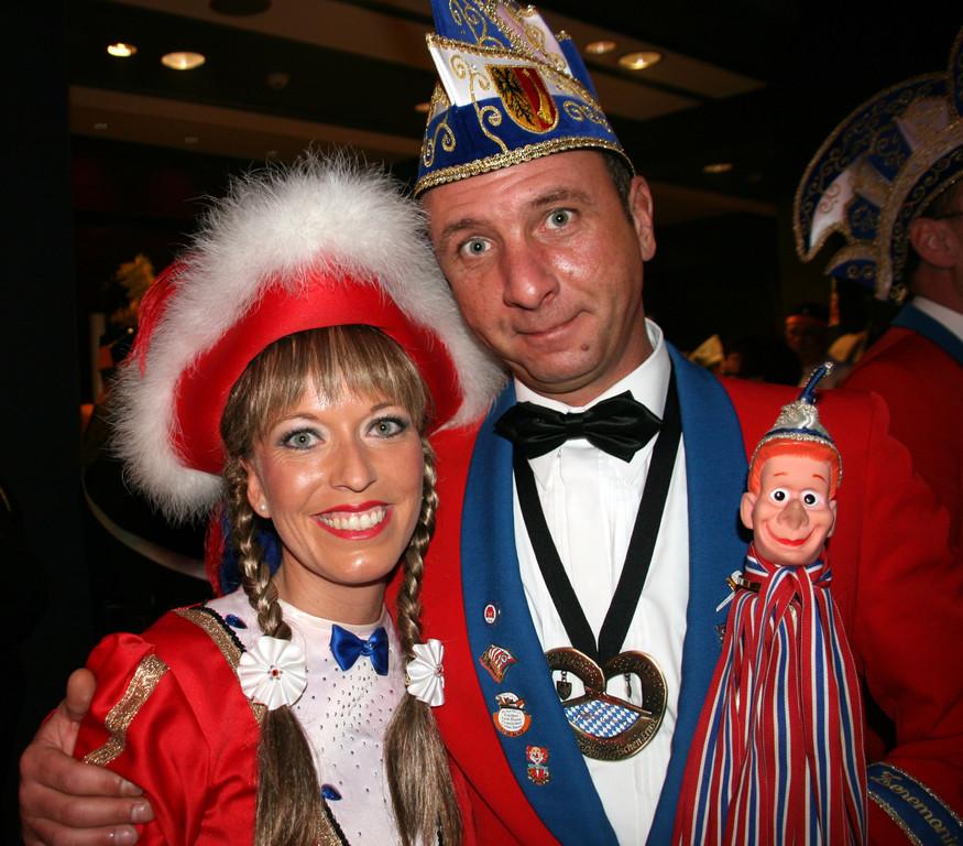 Vorfreude auf die Prinzenproklamation im Eurogress 07. Januar 2012