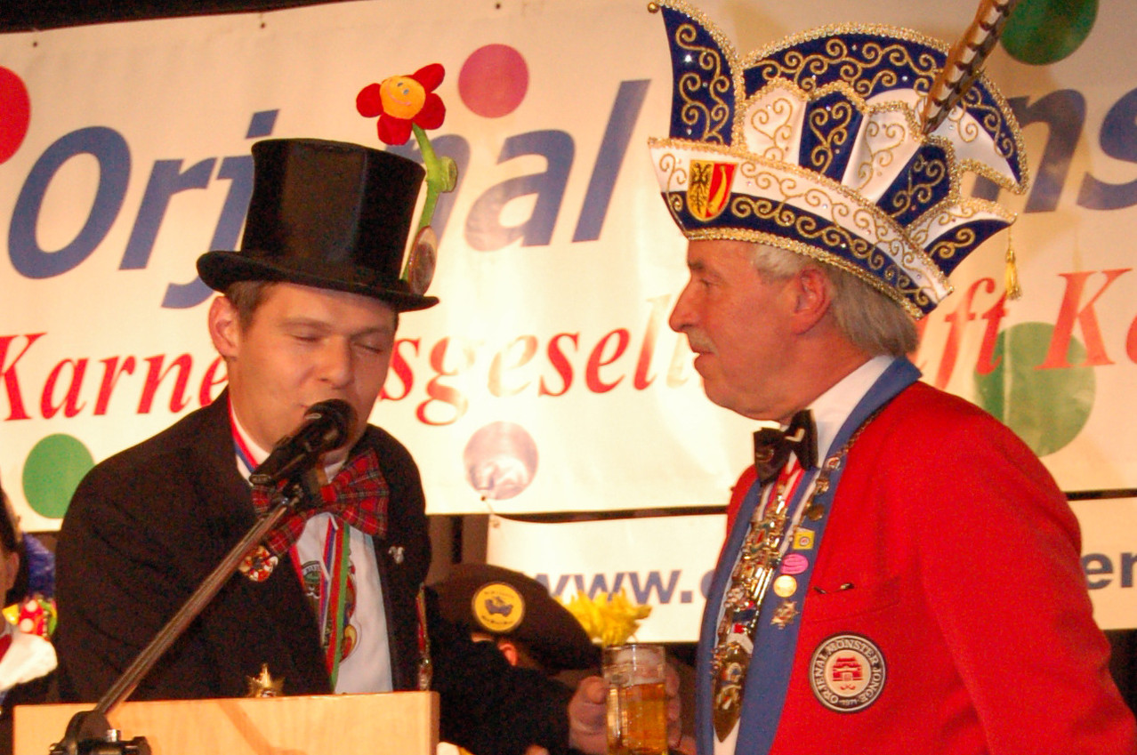 """Unsere Freunde der """"Blauw Sjuut"""" aus Heerlen gratulieren zum 80 x 11jährigen"""