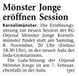Montag, 03. November 2008, Sessionseröffnung