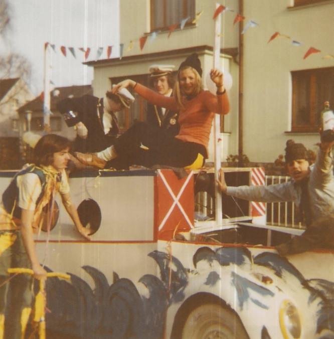 "Unser erster Karnevalswagen: 1972 ""Reederei Kornelimünster, Luwi I"""