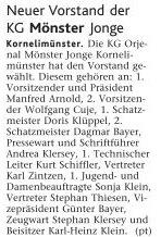 Donnerstag, 26. Juni 2009, Vorstandswahlen