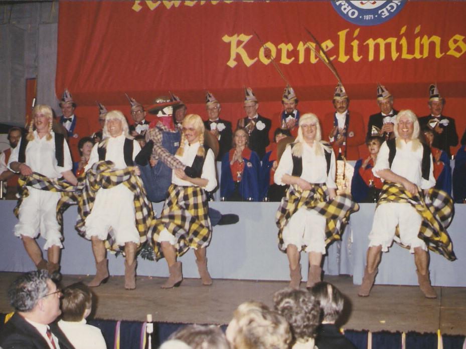 """Unsere zweite """"Große Sitzung"""" 1985 Juxtanz """"Cowgirls"""""""