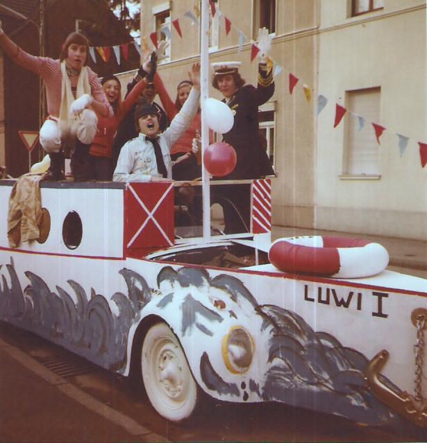 "Unser erster Karnevalswagen: 1972 ""Reederie Kornelimünster, Luwi I"""