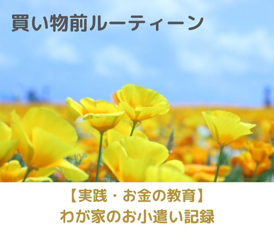買い物前のルーティン【実践・お金の教育】