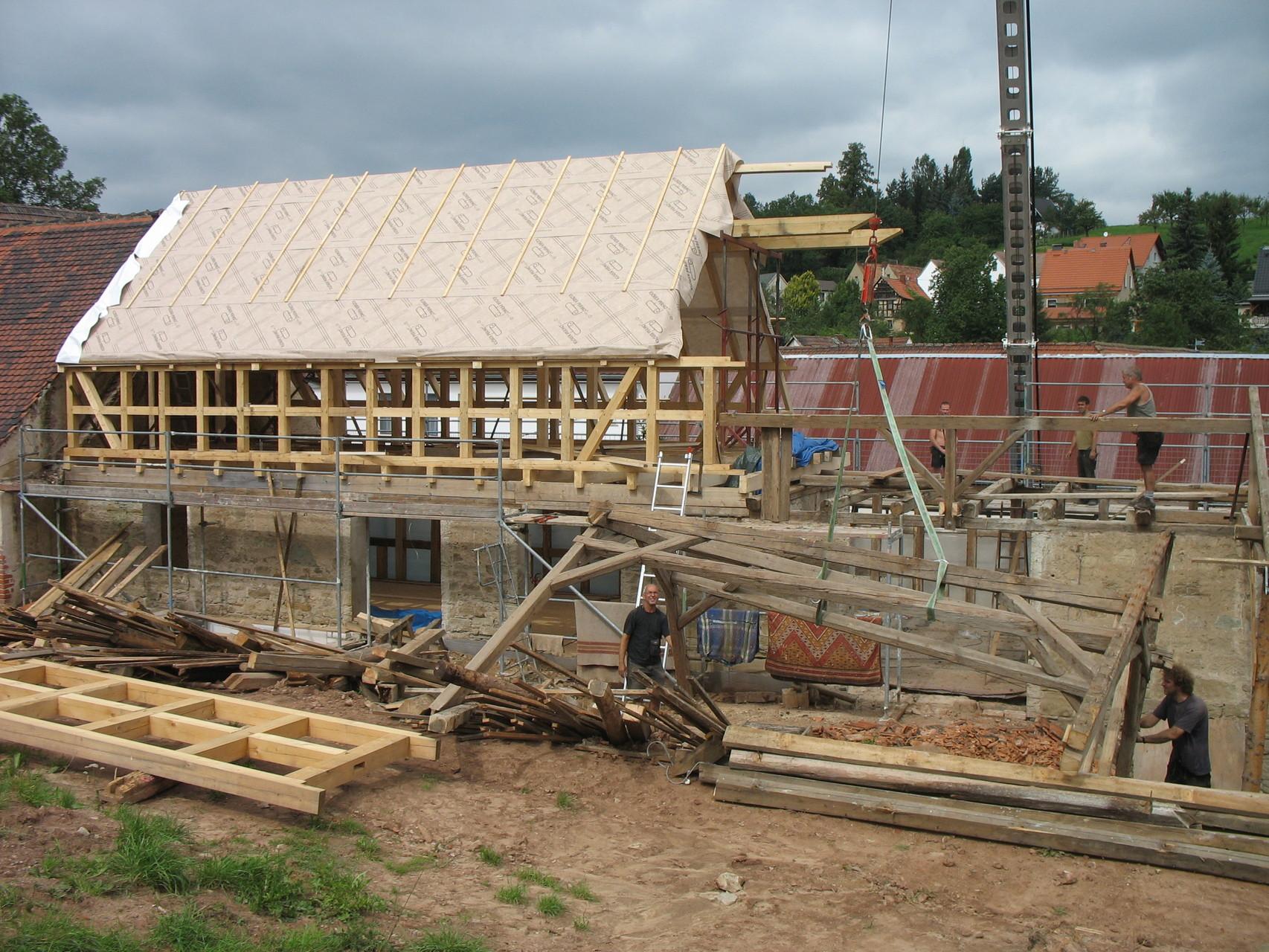 Umbau Stallgebäude zu Wohnhaus, Lindenkreuz