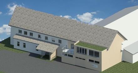 Erweiterungt Industriehalle, Lindenkreuz